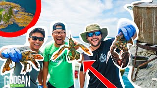 TRAPPING Giant LOBSTER! ( ISLAND CATCH CLEAN and COOK )