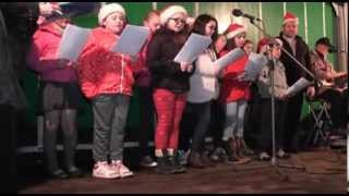 Sion Mills school Choir performance at the switch on