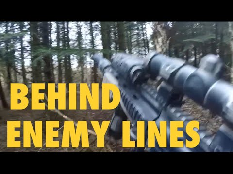 ALONE BEHIND ENEMY LINES Airsoft Gameplay