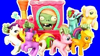 12 My Little Pony Buildable Ponies Exploding Pvz2 Zombies Train Wreck Blind Bag Toy Review