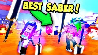 Getting PREMIUM PETS, THANKSGIVING PETS and the BEST SABER in Saber Simulator!