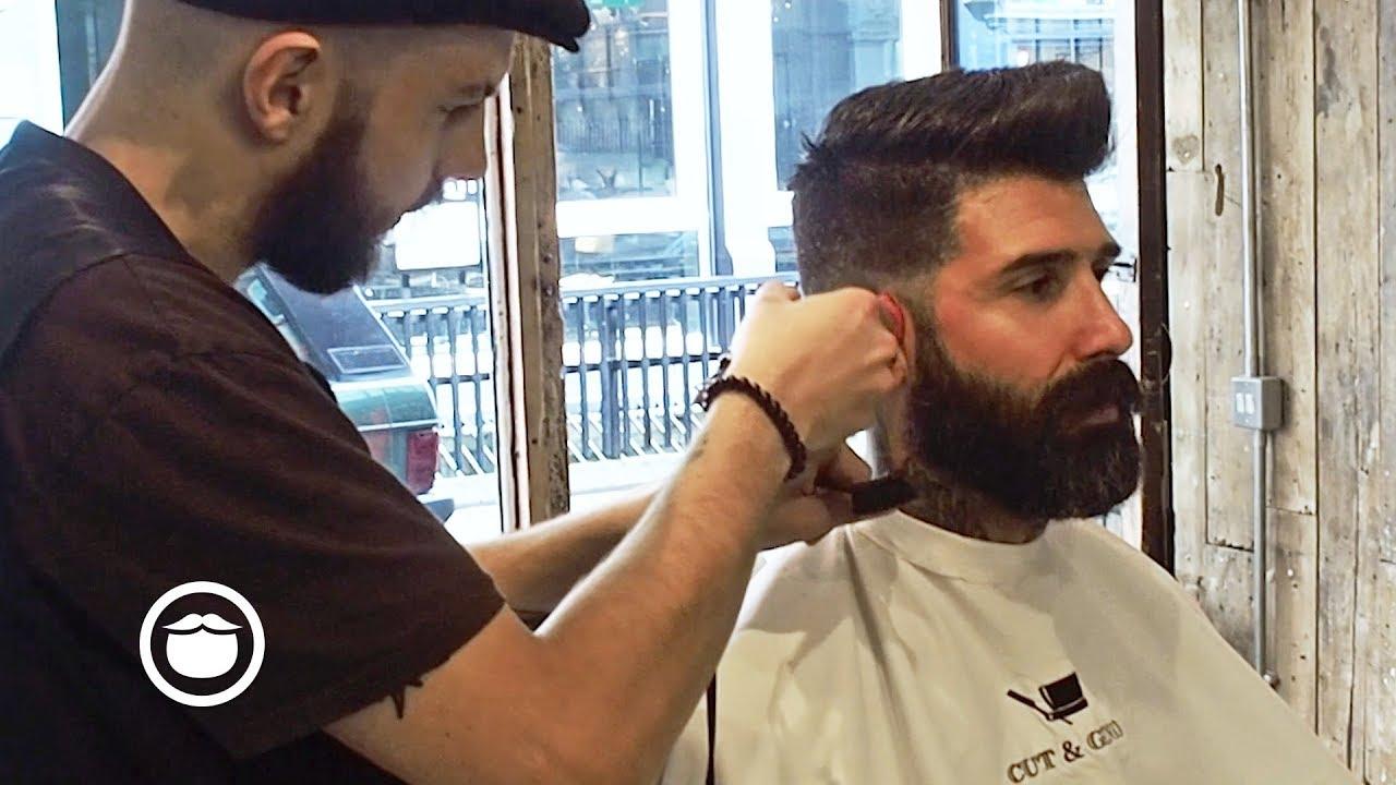High Skin Fade With Beard Trim Cut Grind Youtube