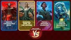 Commander VS S15E1: Judith VS Emmara VS Vannifar VS Augustin IV [EDH]