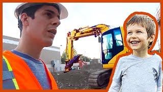 Axel Gets Dumped Out of an Excavator Bucket at a Construction Site(WELCOME TO THE AXEL SHOW! - A Wholesome and interactive, reality YouTube Show for Kids! On this episode of the Axel Show, Axel and his Daddy visit a ..., 2014-07-24T19:43:18.000Z)