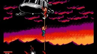 NES Super Contra No Death (2 player co op 1 credit each) full gameplay