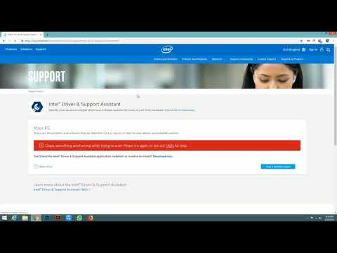 Update and download Intel graphics driver... Your system..