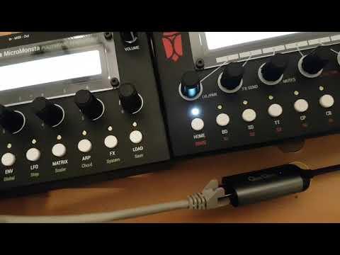 Audiothingies MicroMonsta + DoubleDrummer w/ custom Samples Demo