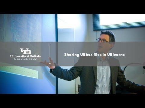 Sharing UBbox files in UBlearns