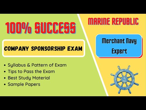 100% Pass in Merchant Navy Company's sponsorship test. How to prepare, syllabus & pattern