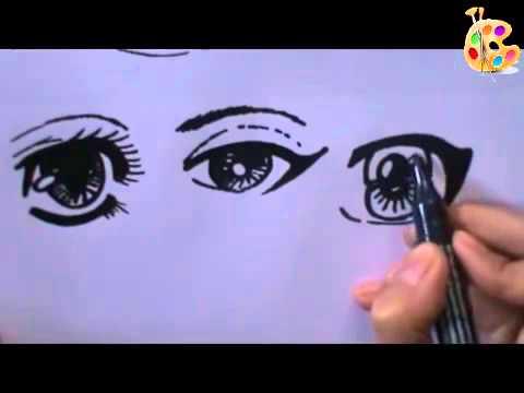كيفية رسم عيون الانمي والمنغا تعليم الرسم خطوة بخطوة Youtube