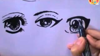 كيفية رسم عيون الانمي والمنغا تعليم الرسم خطوة بخطوة