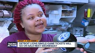 Detroit Lions single-game tickets on sale next Wednesday