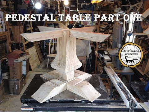 Woodworking : Pedestal Kitchen Table // How-to Part One