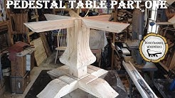 Woodworking : Pedestal Kitchen Table // How-to Part 1