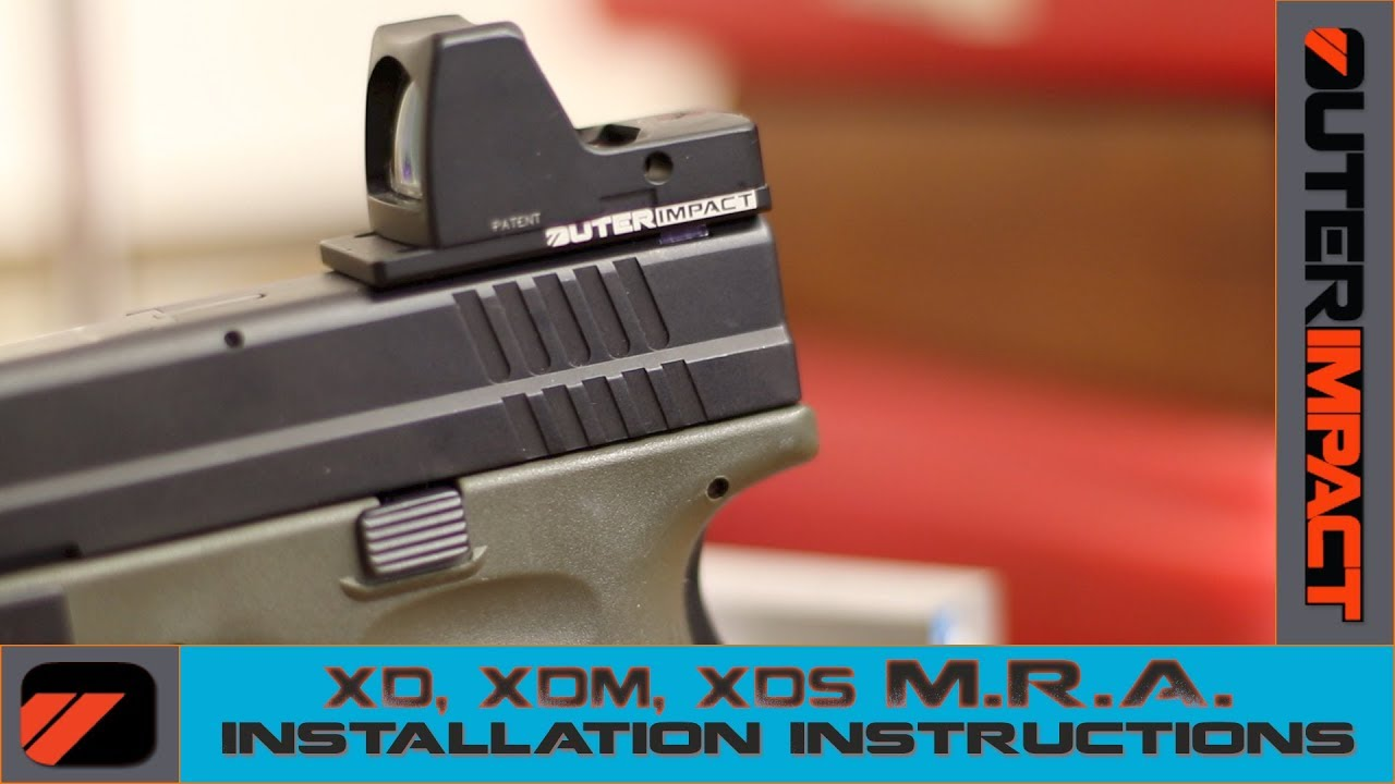 XD, XD MOD 2, XD(M) - Outerimpact M R A  Plate Installation Instructions
