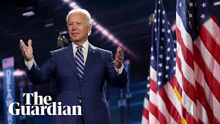 Democratic national convention day four: Joe Biden delivers closing speech – watch live