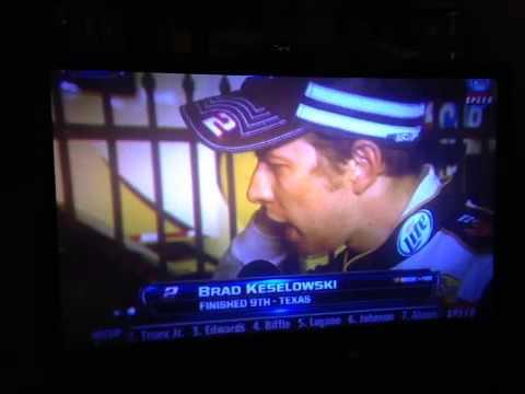 Brad Keselowski angry interview