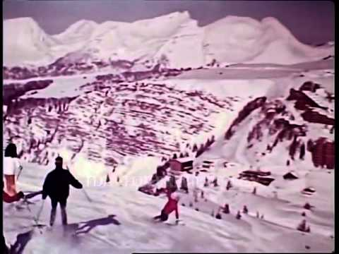 Peter Stuyvesant Cigarettes Skiing 1970s Cinemas Adverts Commercial TDA Archive www findaclip co uk