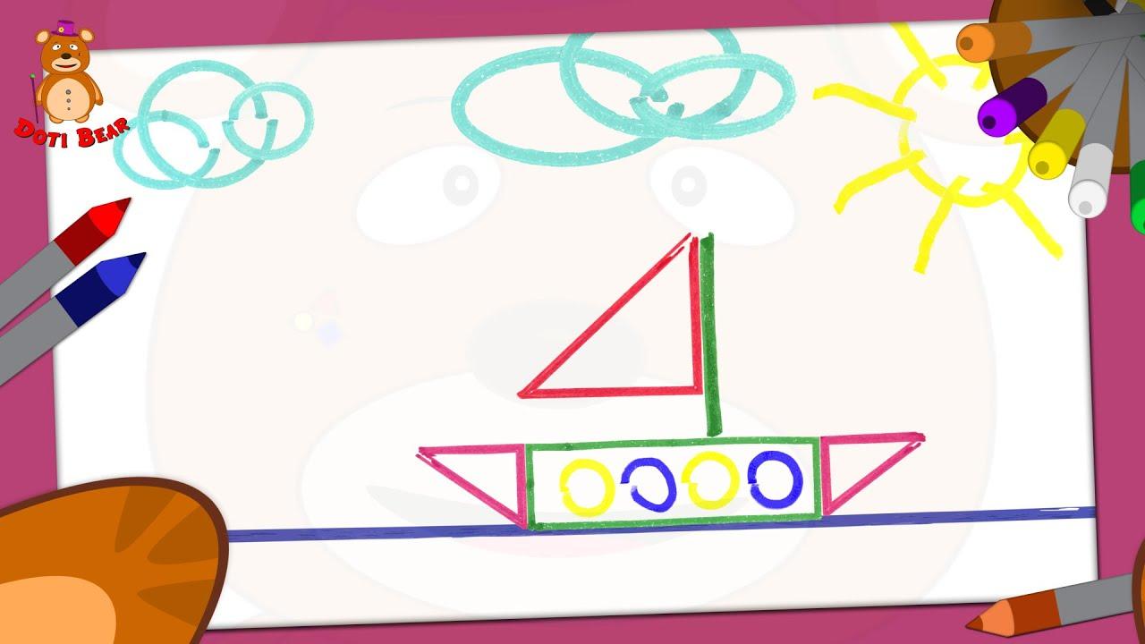 Doti Bear Guia De Desenho Para Criancas Pequenas Barco Youtube
