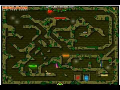 Прохождение игры Огонь и Вода 1: Лесной Храм (ВСЕ УРОВНИ)