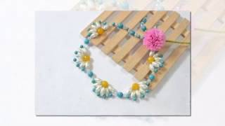 Уроки бисероплетения. Цветочное ожерелье. Ажурное плетение.