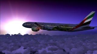 FS2004 - Sao Paulo (SBGR) - Dubai (OMDB) // Boeing 777-300ER Emirates Airlines