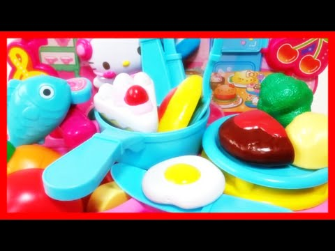 Toy Food Cutting Vegetables Velcro Cooking Playset Hello