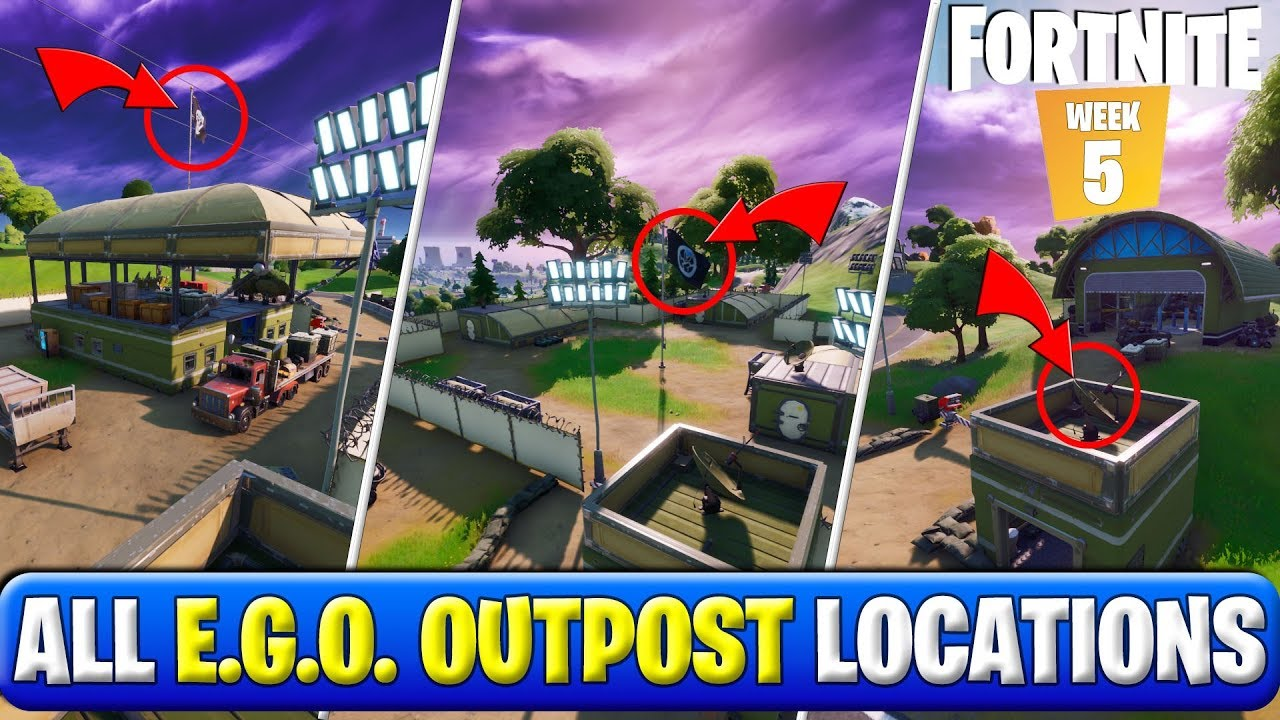 Visit Different Ego Outposts All E G O Outpost Locations Fortnite Chapter 2