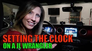 Setting The Clock Time - Jeep Wrangler JL