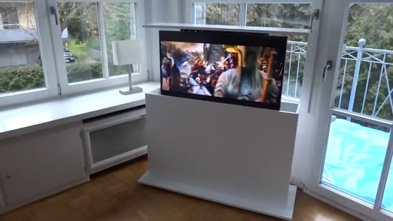 ModlineDesign TV Lift Vertix im Schrank  YouTube ~ Tv Schrank Lift