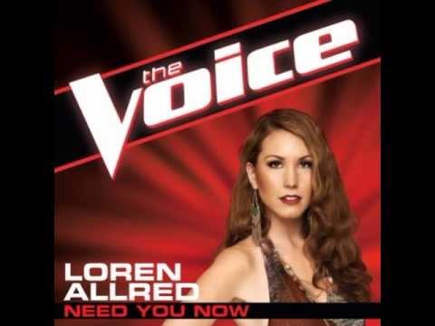 Loren Allred: 'Need You Now' - The Voice (Studio Version)