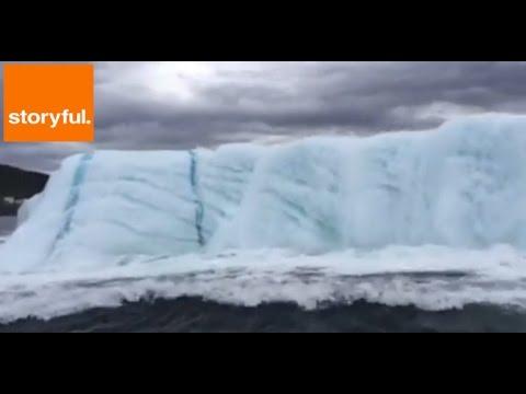 Huge Iceberg Flips Over in Newfoundland (Storyful, Weather)