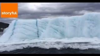 Huge Iceberg Flips Over in Newfoundland (Storyful, Weather) thumbnail