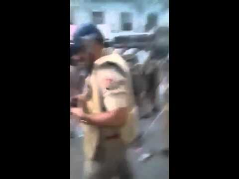 Varanasi police LathiCharged at media reporter