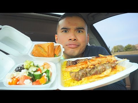 First Time Trying AUTHENTIC GREEK FOOD | MUKBANG | QT