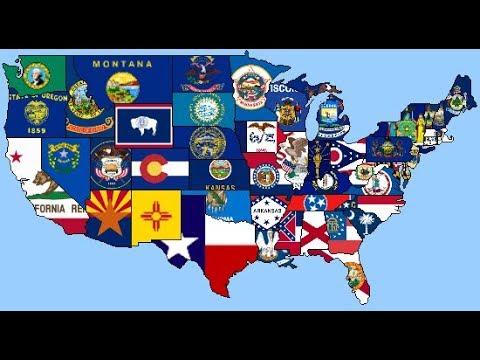 SPEED ART - Lower 48 States USA Flag Map