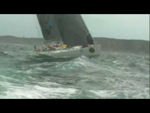Idiots on Surf Ski offshore in the way of the thundering Rolex Sydney Hobart Boats.