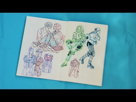 Обзор Скетчбука / Sketchbook February - May 2017 / ENG SUB