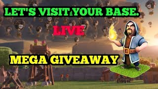 CLASH OF CLANS LIVE STREAM || MEGA GIVEAWAY || 1K SUBS SPECIAL || BASE REVIEW || ATTACKS ||