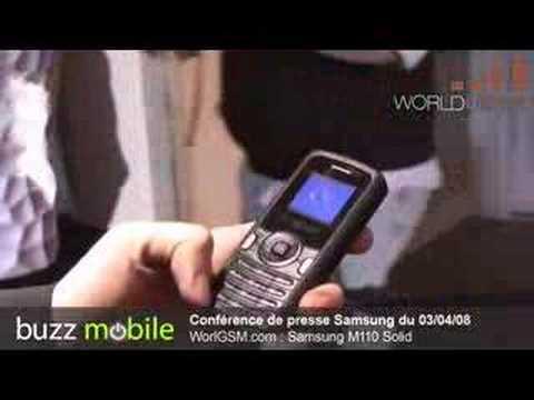 CONFÉRENCE DE PRESSE SAMSUNG : M110 Solid WORLDGSM
