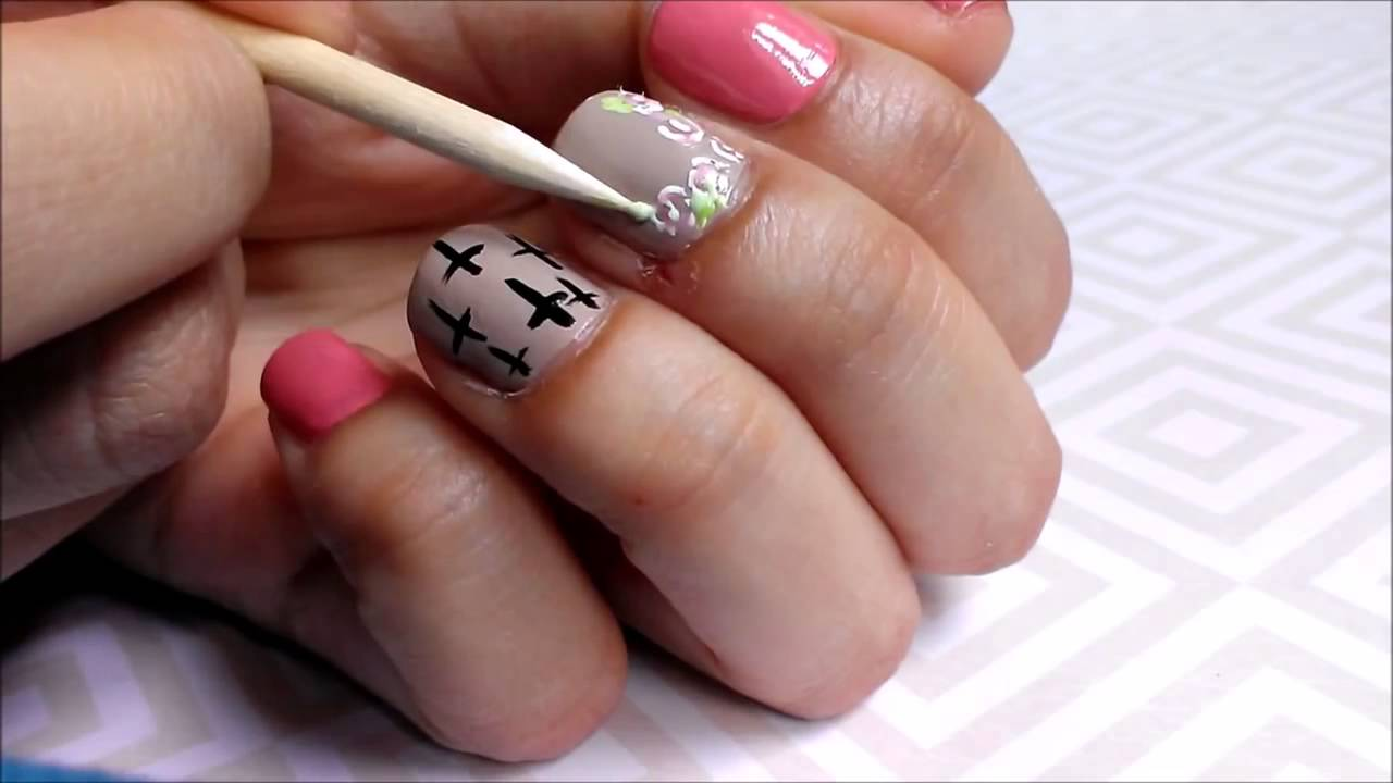 Cute easy summer nail art for short nails step by step youtube prinsesfo Choice Image