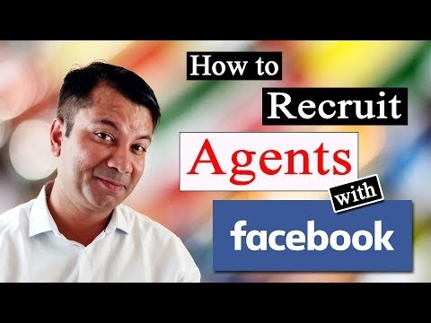 How To Recruit Agents with Facebook ? [ HINDI ]