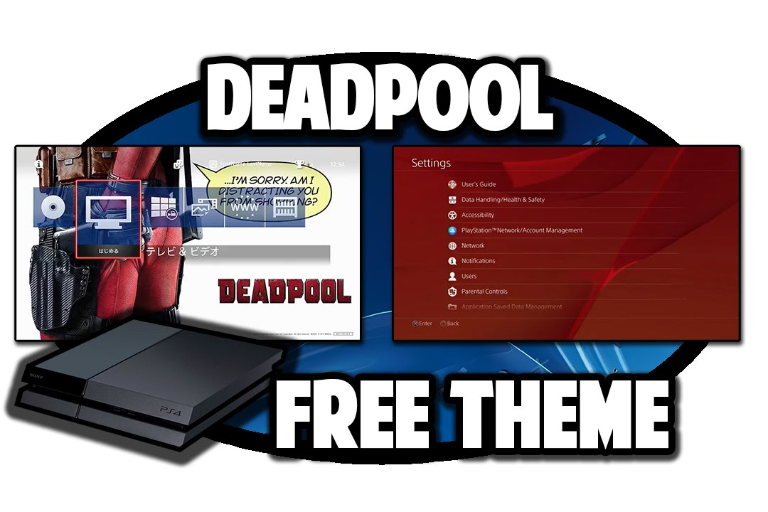 [PS4 THEMES] Deadpool Free Theme Video in 60FPS