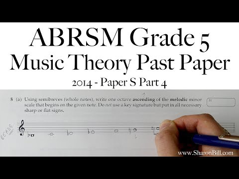 ABRSM Music Theory Grade 5 Past Paper 2014 S Part 4 with Sharon Bill