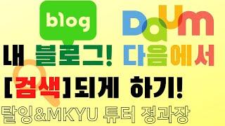 네이버 블로그 다음 (DAUM)에 검색등록 하기