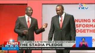 Jubilee government claims it is in the process of building 9 stadiums