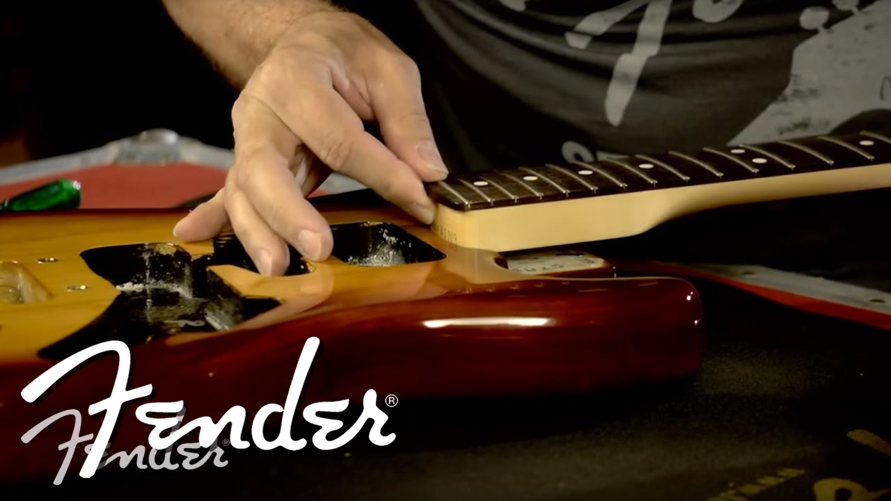 How To Attach A Fender Guitar Neck To A Body Fender Youtube