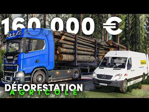 Un GROS chèque pour le CAMION ! | Déforestation Agricole #03 (Farming Simulator 19)
