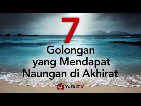 7 Golongan yang Mendapatkan Naungan Allah - Poster Dakwah Yufid TV Mp3