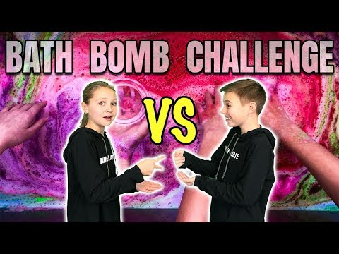 Brother vs Sister Bath Bomb Challenge | First Time Making Bath Bombs